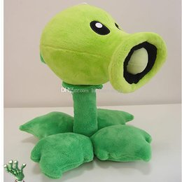 Plants Vs Zombie Figures NZ - 30cm Plants vs Zombies Pea Shooter Plush Toys Doll High Quality Plants Vs Zombies Peashooter Soft Stuffed Toys Boys Gift
