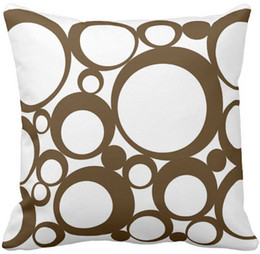 "$enCountryForm.capitalKeyWord NZ - Brown Abstract Polka Dots Modern Art Throw Pillow Case, Squar Sofa Cushions Cover, ""16inch 18inch 20inch"", Pack of X"