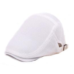 Solid Cotton Gatsby Cap Mens Ivy Hat Golf Driving Summer Sun Flat Cabbie  Newsboy Lightweight Adjustable Mesh Quick Drying Beret Hat Unisex 4ee60b6fadc6