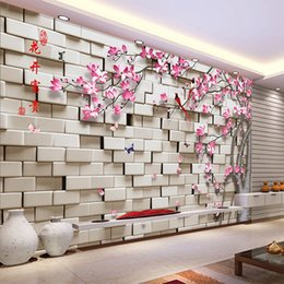 Wholesale Custom Any Size 3D Stereoscopic Geometric Squares Flower Tree  Living Room Sofa TV Background Wall Mural Decor Wallpaper Roll Geometric  Wallpaper ... Part 63