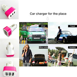 $enCountryForm.capitalKeyWord NZ - Triple Portable 5V 3.1A Fast Quick Car Charger 3 Port Micro USB Phone Cheger Unicersal For Iphone 6S Samgsung Ipod Htc