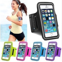 Cove Case Canada - Waterproof Sport Arm Band Case For Iphone 5S 6S 7 Plus Arm Phone Bag Running Accessory Band Gym Pounch Belt Cove