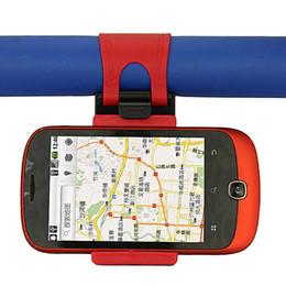 $enCountryForm.capitalKeyWord NZ - Universal Car Streeling Steering Wheel Cradle Holder SMART Clip Car Bike Mount for Mobile iphone samsung Cell Phone GPS Christmas Gift US07