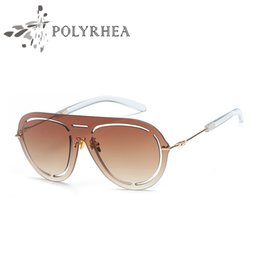 hot summer sunglasses NZ - Fashion Frameless Sunglasses Flat Mirror Glasses Hollow Decoration Designer Chain Logo Sun Glasses Fashion Party Hot Summer Style With Box