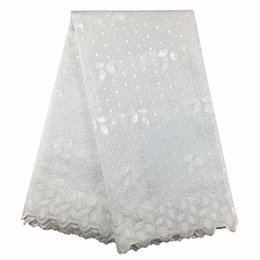 Lacets À Double Organza Pas Cher-African Organza Lace High Quality 018, Livraison gratuite 5yards / pack, Double Oganza Lace African Embroidery Wedding Lace