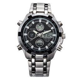 $enCountryForm.capitalKeyWord Australia - Fashion Mens Sport Watch Led Gold Big Face Quartz-Watch Men Waterproof Wrist Watch Male Watches Clock relogio masculino