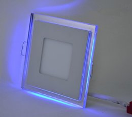 Wholesale 10W 15W 20W Square LED Recessed Down Light Ceiling Lamp Blue Frame And White Inside Panel For Home Decoration