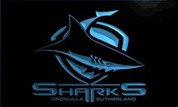 Discount shark decor - LS2119-b-Sharks-bar-Neon-Light-Sign Decor Free Shipping Dropshipping Wholesale 6 colors to choose