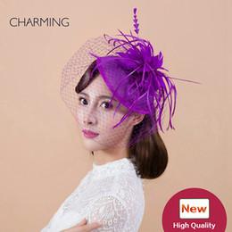 $enCountryForm.capitalKeyWord Canada - Wedding hats veils Ladies hats for weddings British wedding hats Mesh and feather material Occasion Elegant hats for wedding