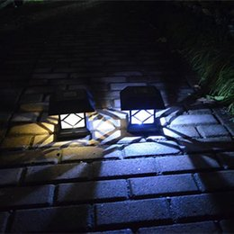 outdoor street lamp post 2019 - LED Solar Light Outdoor Led Light Waterproof Solar Post Lamp Pillar Lamp Luminaires Exterieurs Novelty Garden Light Led