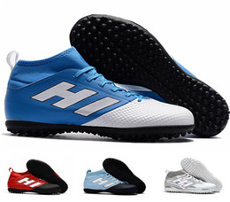 Chinese  2017 new arrival factory outlet ACE 17.3 Primemesh TF men's Soccer Boots High quality cheap outdoor lawn soft spike Football Shoes manufacturers