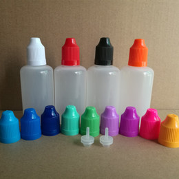 plastic vape liquid bottles 2019 - 50ml PE PET Empty plastic dropper bottles With Childproof Cap and long thin Tip For E Cig Vapor Vape Liquid Needle Dropp