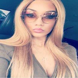 701cd4c957b Wholesale-2016 New Gothic Cat Eye Sunglasses Women Fashion Brand Designer  Clear Mirror Cateye Sun Glasses Vintage Woman Female UV400