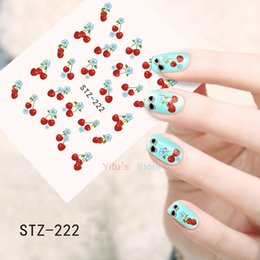 Cherry nail art online cherry nail art for sale wholesale 1sheets water decals nail art diy tips cherry flower printing nail art sticker watermark diy decorations polish tools stz222 prinsesfo Gallery