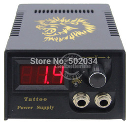 Mitrailleuses En Gros Pas Cher-Gros-1pc Nouveau Noir Couleur Numérique LCD Tattoo Power Machine Gun pour débutant kits de tatouage ensemble Alimentation WS-P020