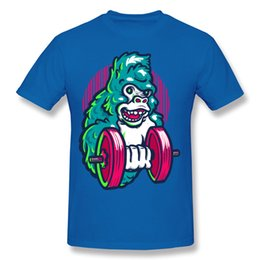 $enCountryForm.capitalKeyWord Canada - Funny Men Short Sleeve TShirts gorilla gym Unique Tee Shirts for college students Hip-hop style Fashion T-Shirts Cool day style