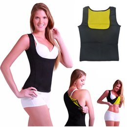 Barato Mulher Cami Shaper-Cami Hot Shapers Mulheres Sexy Shaper Shirt Neoprene Slim Belt Body Sculpting Fitness Vest Thermo Redu Shapers Slimming Shaper Sport Shirt