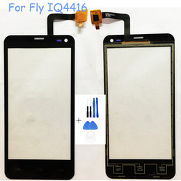 $enCountryForm.capitalKeyWord Australia - Wholesale- High Quality Touch Panel Touchscreen Sensor For Fly iq4416 iq 4416 Touch Screen Front Glass Digitizer Repair With Free Tools