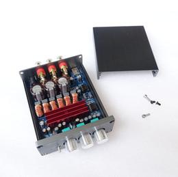 Freeshipping yeni sürüm 2.1 yüksek güç 50 W + 50 W + 100 W dijital bitmiş amplifikatör DAC TPA3116D2 aşmak LM1875