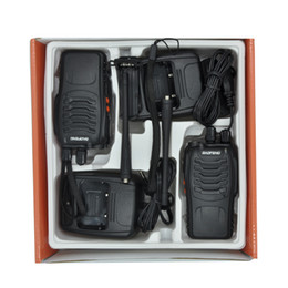 Discount walkie talkie 10 PCS BF-888S Baofeng Walkie Talkie 5W Two Way Radio UHF 400-470MHz Frequency Portable Pofung Cost Effective