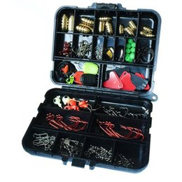 Fishing Tackle Lure Box NZ - 20Kinds 128pcs Fishing Accessories Hooks Swivels Weight Fishing Sinker Stoppers Connectors Sequins Lures Fishing Tackle Box