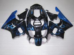 $enCountryForm.capitalKeyWord UK - Motorcycle Fairing kit for Honda CBR 900RR 1996 1997 blue flames black fairings set for CBR900RR 96 97 OT07