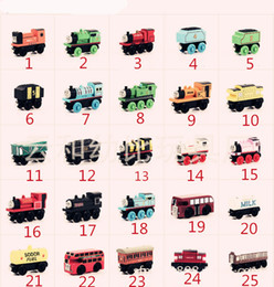 toys small car 2019 - Wooden Small Trains Cartoon Toys 48 Styles Friends wooden Complete set of car toy train toys (1set=70pcs) cheap toys sma