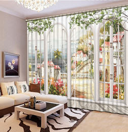 2017 Beautiful Curtains For Living Room New Custom 3D Beautiful Window Curtain  Living Room Fashion Decor