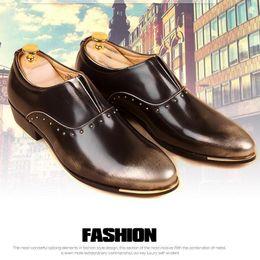 $enCountryForm.capitalKeyWord NZ - Hot 2017 Spring Autumn Fashion Genuine Leather Shoes Men's Flat Breathable Business Shoes Patchwork Oxford Shoes Men Office Shoe Dress Shoe