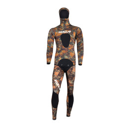 $enCountryForm.capitalKeyWord Canada - High quality black 3.5mm camouflage professional separated diving wetsuit men's Spearfiishing suits Surf diving equipment