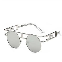 4671f29bdb 2017 Trendy Women Brand Designer Unique Men Gothic Sun glasses Polarised  Round Metal Frame Steampunk Sunglasses Vintage