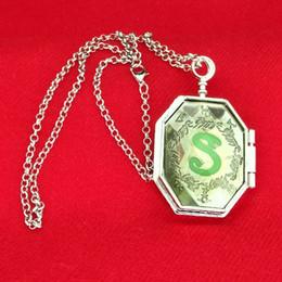 Photo Box Pendant Canada - Movie Series Magic Slytherin Locket Horcrux Snake Photo Box Locket Horcrux Kit pendant&necklace Fine Jewelry Free Shipping 160605