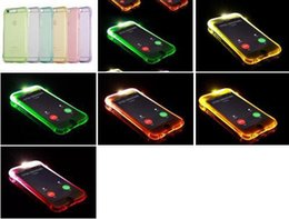 $enCountryForm.capitalKeyWord NZ - For Iphone X 8 7 Iphone8 6 6S Plus SE 5 5S Call Lightning Flash LED Light Up Phone Case Soft TPU Silicone Shockproof Bling Clear Skin Cover