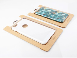 Wholesale iphone6 phone shell resale online - 500pcs Universal kraft Paper Packaging Box Package For iPhone6 Samsung S7 edge phone shell box