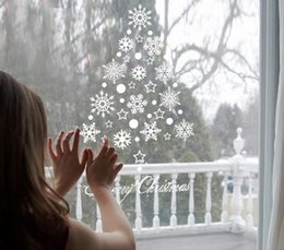 Christmas window stiCkers kids online shopping - Christmas Sticker Snowflake Window Stickers for Glass Shopwindow Christmas Decals Gifts Festivals Decor for Party Wedding Home Decoration