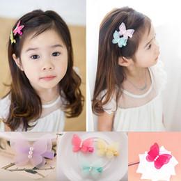 $enCountryForm.capitalKeyWord NZ - Fashion Cute Simulated Yarn Butterfly Baby Pearl Hairpins Hair Clips Kids Girls Children Barrettes Hair Accessories
