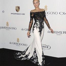 Vestidos De Festa Abendkleider Mermaid Long Sleeve Zipper Back Applique Lace Formelle Teppich Celebrity Abendkleider im Angebot