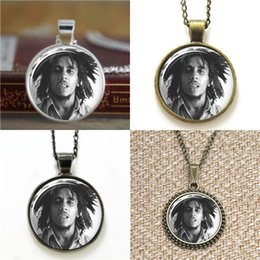 $enCountryForm.capitalKeyWord UK - 10pcs Bob Marley ASD2 Glass Photo Necklace keyring bookmark cufflink earring bracelet