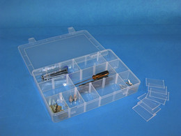 Box Pieces NZ - Promotion Fashion Plastic Storage Box Small Electrical Hardware Pieces Case For Small accessories 1201