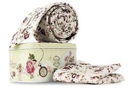 Knitted Bowties UK - Set Men Cotton Necktie Jacquard Floral Fashion Skinny Tie Crossover Ties Pocket Square Wedding Party Print Handkerchief Bowties Tie