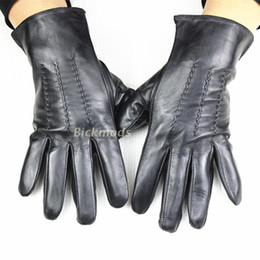 2aa1b284d7317 Wholesale- 2017 Limited Guantes Tactical Gloves Men's Leather Gloves No  Lining 100% Stripes Style Sheepskin Spring And Summer Thin Driving