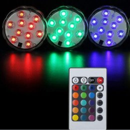 Waterproof Remote Control Light Switch Australia - 10 LED Submersible Candle Lamp Remote 5050 SMD Control Multicolor Floral Vase Base Waterproof Light Wedding Birthday Party Decoration