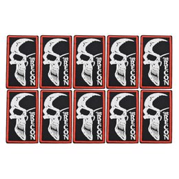 Cloth Patches Badges Australia - 10PCS half face skull badge patches for clothing iron fashion patch for clothes applique sewing accessories stickers on cloth iron on patch