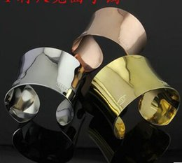 Version Speakers NZ - Foreign trade T speaker open wide bangle wide version of concave bangle 18K rose gold female bangle