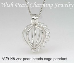 Gem-studded 925 Silver Heart Locket Cage aa989ae17df6