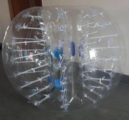 inflatable hamster Australia - 1.7m Transparent Inflatable Bubble Soccer Ball Inflatable Human Hamster Ball Zorb Ball Bumper Football