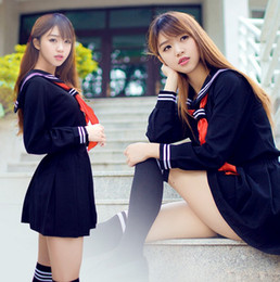 Uniformes Scolaires Filles Sexy Pas Cher-Enfer fille japonaise lycée fille marin uniforme costume cosplay costume robe sexy