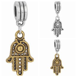 $enCountryForm.capitalKeyWord NZ - Wholesale 20pcs lot Tibet Silver & Gold Turkey Eye Design Alloy metal Dangle DIY Charms fit European Bracelet &Necklace Low Price PED108