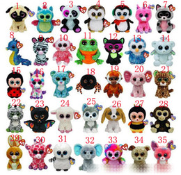 Discount cute beanie boos 35style Cute animals beanie boos plush toy TY big eyes Cute animals toys 15cm TY animal doll