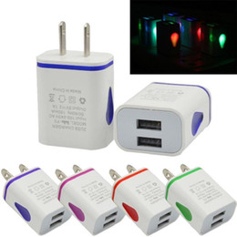 $enCountryForm.capitalKeyWord Canada - Light Up Water-drop LED Dual USB Ports Home Travel Power Adapter 5V 2.1A + 1A AC US EU Plug Wall Charger For Samsung HTC LG Tablet